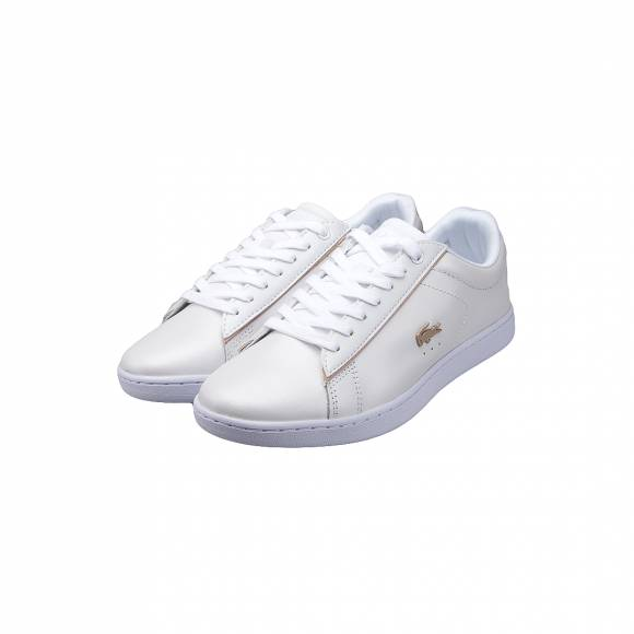 LACOSTE CARNABY EVO 118 6 SPW WHT/GLD LEATHER 7-35SPW0013216
