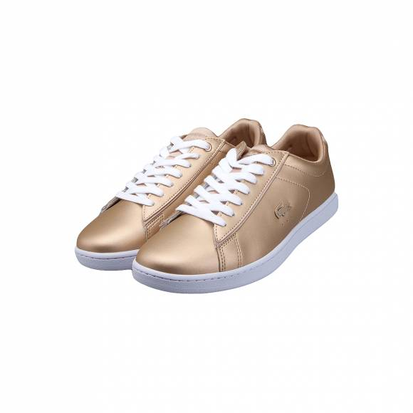 LACOSTE CARNABY EVO 118 1 SPW GLD/WHT LEATHER 7-35SPW0006GW3