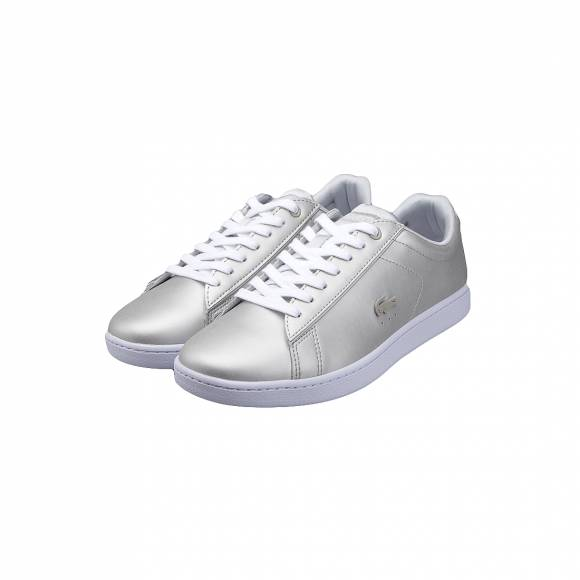 LACOSTE CARNABY EVO 118 1 SPW LT GRY/WHT LEATHER 7-35SPW00062Q5