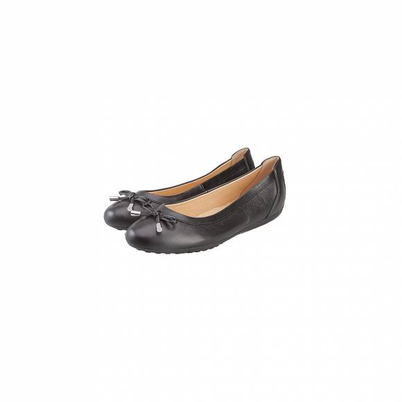 GEOX D34D8H 00043 C9999 DONNA PIUMA BALLERIN DPIUMA BAL H SMOOTH LEATHER BLACK