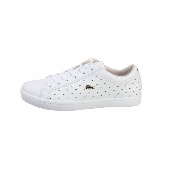 LACOSTE STRIGHTSET 117 3 CAW WHT LEATHER 7-33CAW1017001
