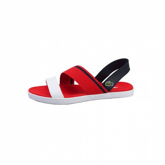 LACOSTE VIVONT SANDAL 117 1 CAW RED/NVY TEXTILE/LEATHER 7-33CAW1025RS7