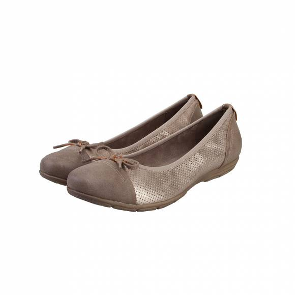 JANA SHOES COMFORT 100% 8-8-22168-28 TAUPE COMB