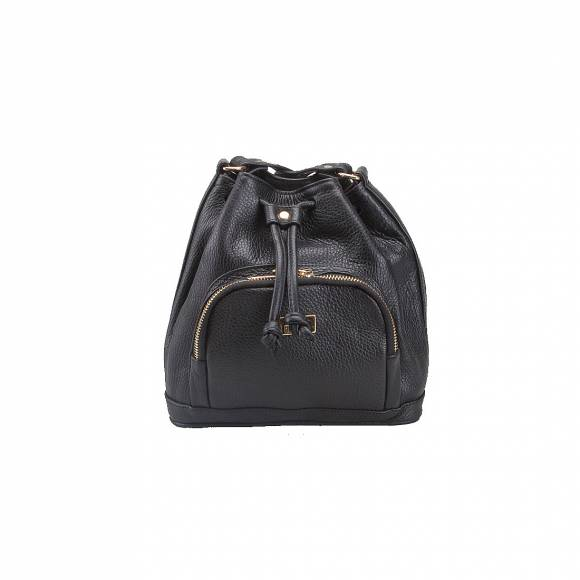 FOUR KNOT 0053 BLACK LEATHER