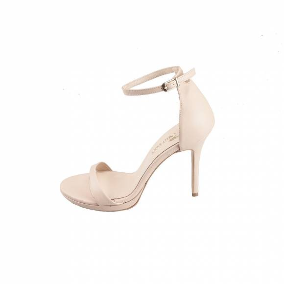 NELLY SHOES 099 38 F1 NUDE LEATHER