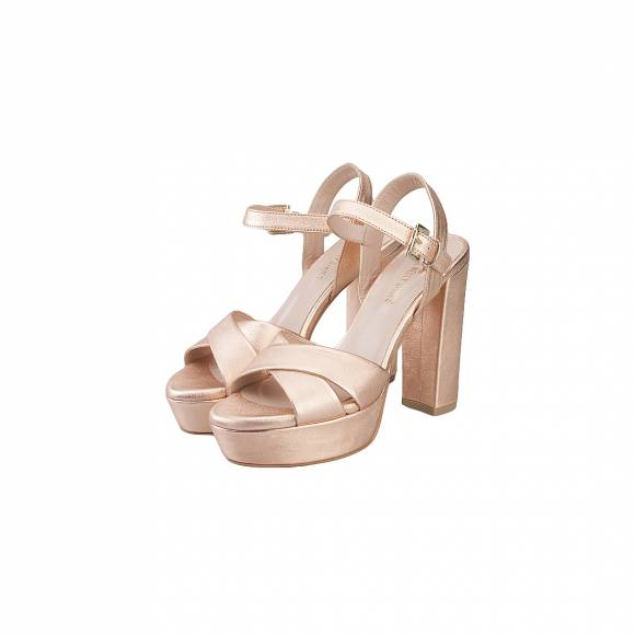 NELLY SHOES 213-23 ROSE GOLD LEATHER