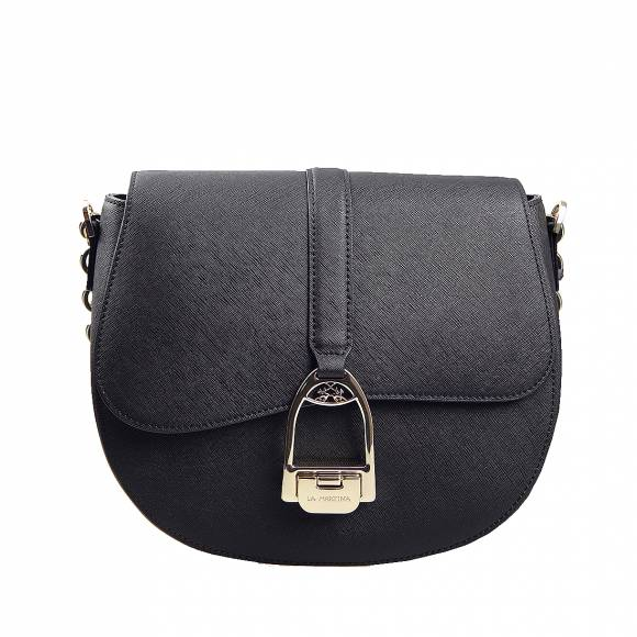 Γυναικεία Τσάντα La Martina small shoulder bag Nina 41W433 P0034 09999 Black