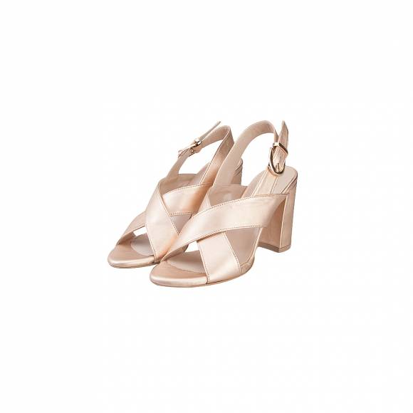 NELLY SHOES 099 55 ROSE GOLD LEATHER