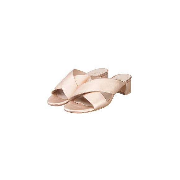 NELLY SHOES 213 8 ROSE GOLD LEATHER