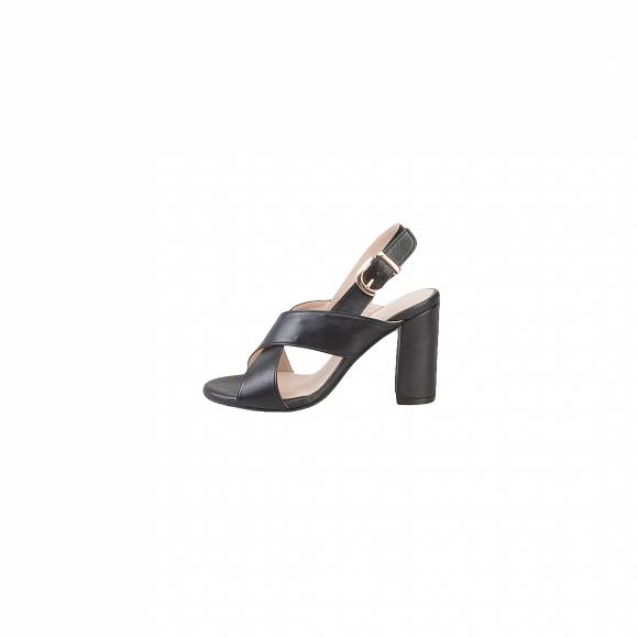 NELLY SHOES 099 55 BLACK METALIC LEATHER