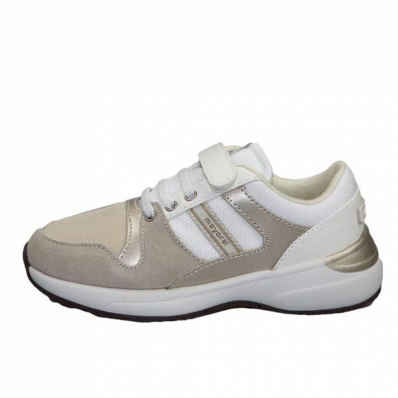 Παιδικά Δερμάτινα Sneakers Mayoral 45 127 Running moda 33 Blanco