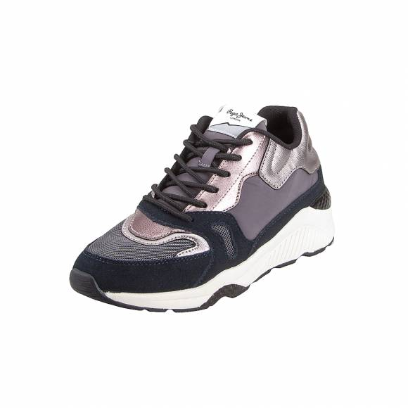 Γυναικεία Sneakers Pepe Jeans Harlow Up Run PLS30943 999 Black