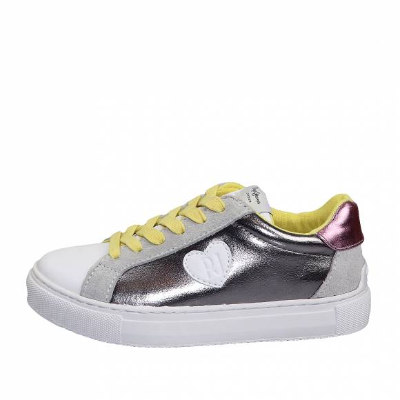 Παιδικά Sneakers Pepe Jeans PGS30436 934 Adams Metal Junior Silver