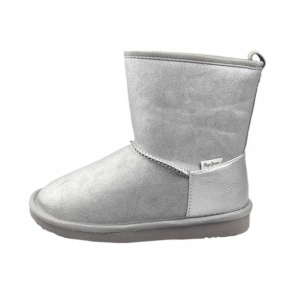 Παιδικά Μποτάκια Pepe Jeans PGS30472 914 Angel Shiny Girl Silver Grey