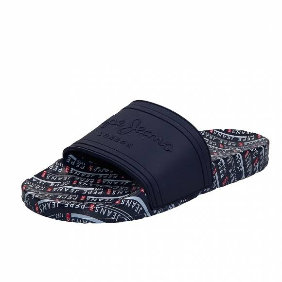 Ανδρικές slider Pepe Jeans PMS70082 595 Navy all over man