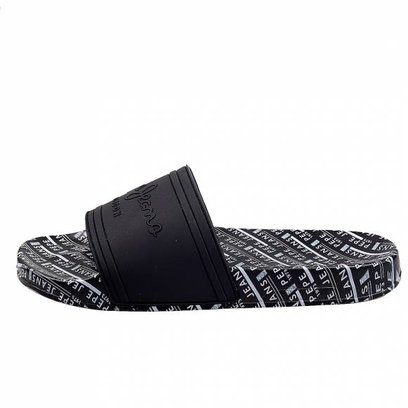 Ανδρικές slider Pepe Jeans PMS70082 999 black all over man