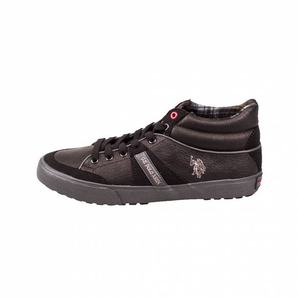 US POLO ASSN  NIGEL LEATHER BLK