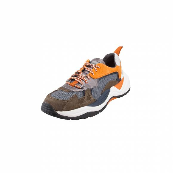 Ανδρικά Δερμάτινα Sneakers Geox T02 A T94BUA 02214 CA37L Military Dk Orange