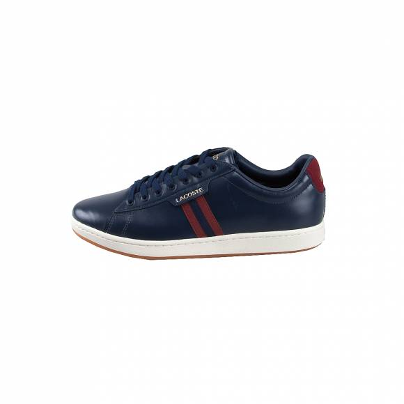 Ανδρικά Δερμάτινα Sneakers Lacoste 7 38SMA00305A5 Carnaby EVO 319 1 SMA NVY DK RED Leather