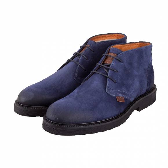 BOSS F18191 BLUE SUEDE