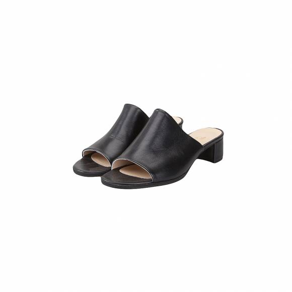 NELLY SHOES NL 213 7 BLACK LEATHER