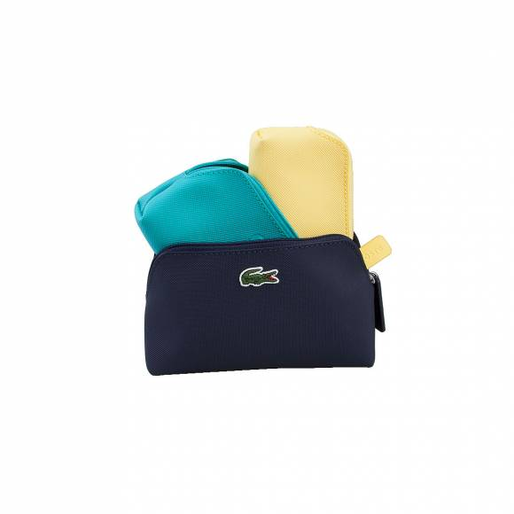 LACOSTE NF1803PO 952 ECLIPSE COMBO D3 TRIO MAKE UP POUCH