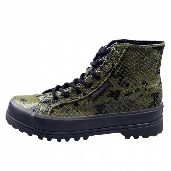 Γυναικεία Μποτάκια Superga 2341 Alpina Synsnakew Green Military S111SNW 575