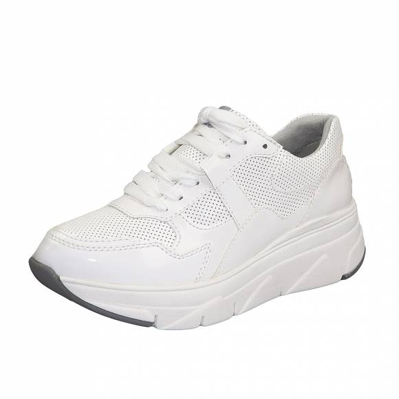 Γυναικεία ecco leather Sneakers Tamaris 1 23741 24 123 White patent