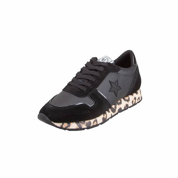Γυναικεία Δερμάτινα Trussardi Sneaker Runner Synthetic Star 79A00435 K323 Monogram Animal Black Leopard 9Y099997
