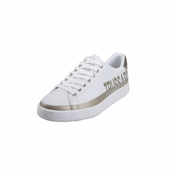 Γυναικεία Trussardi Sneaker Synthetic Bicolor 79A00420 W621 Glitter White Platinum 9Y099999