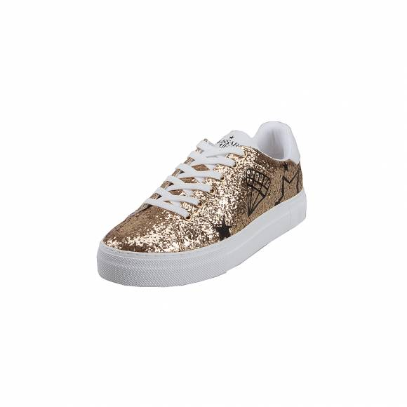Γυναικεία Sneakers Trussardi synthetic Strass Star Diamond 79A00444 9Y099999 M080 Platinum