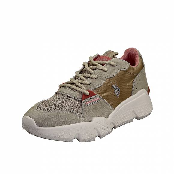 Γυναικεία Δερμάτινα Sneakers Us Polo Assn Willow Beige Becky4144S0 MS1