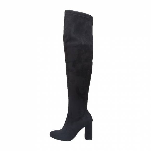 NELLY SHOES NL469 03 BLACK SUEDE