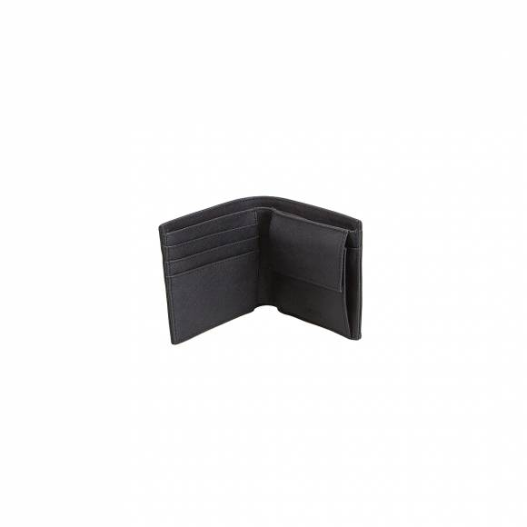 LACOSTE MH2309HC 000 BLACK S BILLFOLD COIN PVC