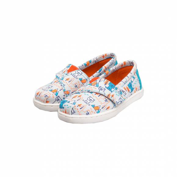 TOMS CLASSIC GREY MULTI CANVAS BEARS 10007416