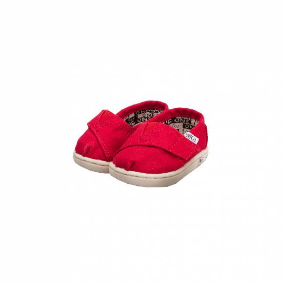 TOMS CLASSIC RED CANVAS 013001D13