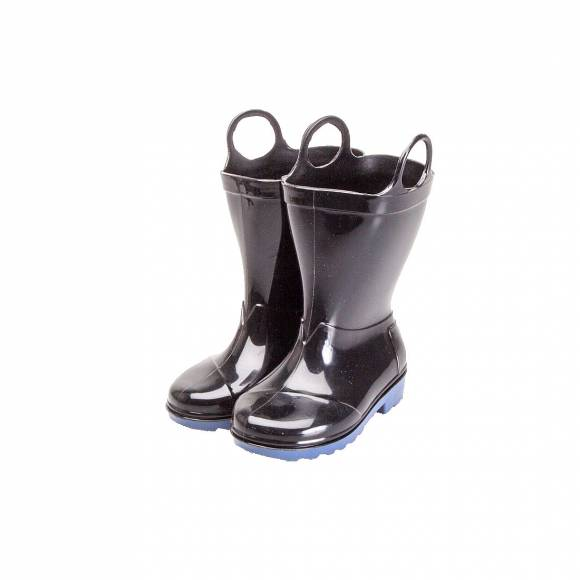 TOMS RAIN BOOT BLACK PVC 10006582