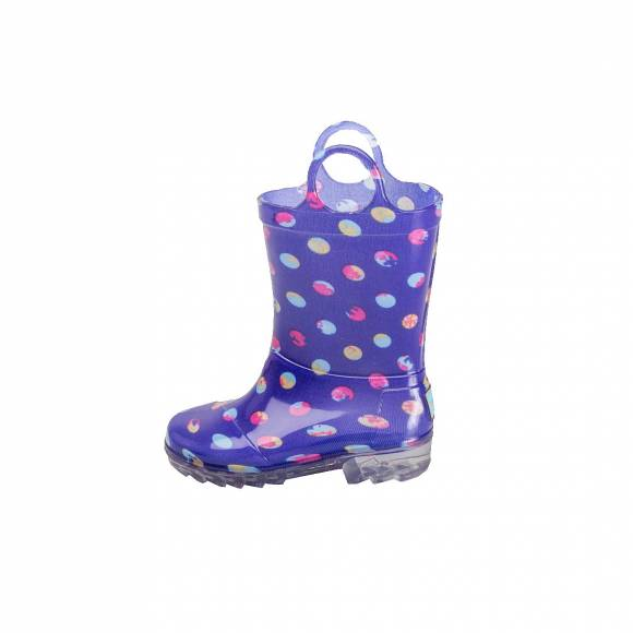 TOMS RAIN BOOT BLUE DOTS PVC 10006586