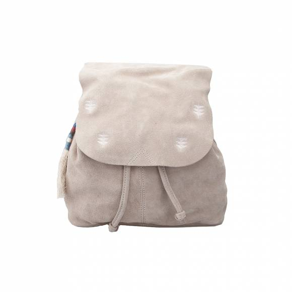 TOMS 10010968 LIGHT TAUPE SUEDE EMBROID BACKPACK