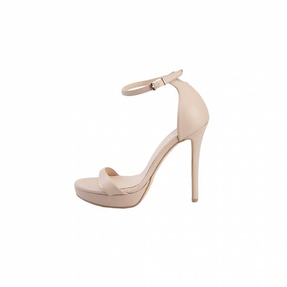 NELLY SHOES 099 38 F2 NUDE LEATHER