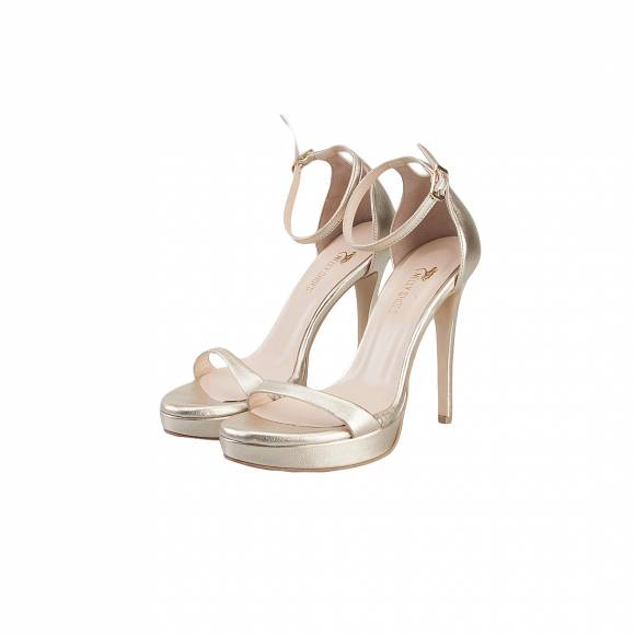 NELLY SHOES 099 38 F2 GOLD LEATHER