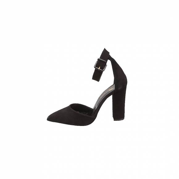 NELLY SHOES NL 197-80 BLACK SUEDE