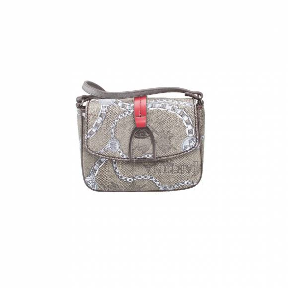 LA MARTINA SHOULDER BAG NEW RECONQUISTAL 41W034 K0012 F1013 CHAIN MULTICOLOUR