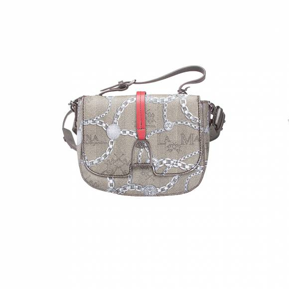 LA MARTINA SHOULDER BAG NEW RECONQISTAL 41W033 K0012 F1013 CHAIN MULTICOLOUR