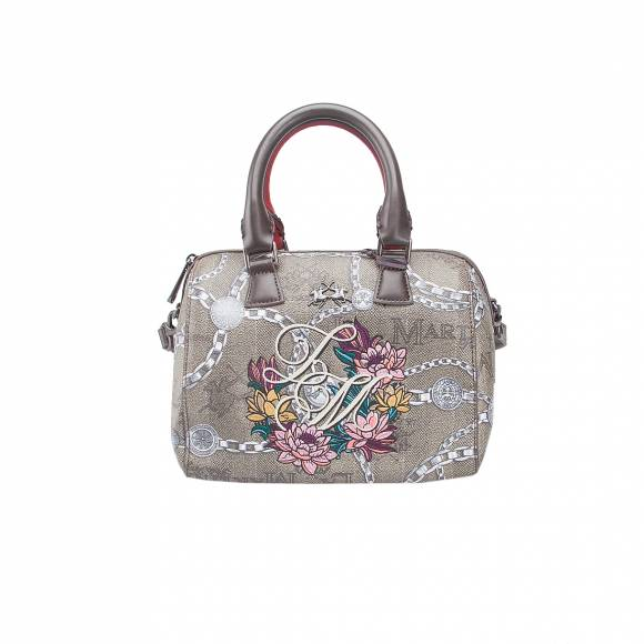 LA MARTINA SMALL HANDBAG RECONQUISTA FLOW 41W076 K0009 F1014 FLOWER CHAIN MULTICOLOUR