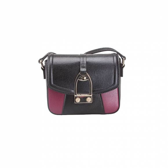 LA MARTINA SHOULDER BAG LA PORTENA 41W006 K0001 B9082 BLACK PURPLE