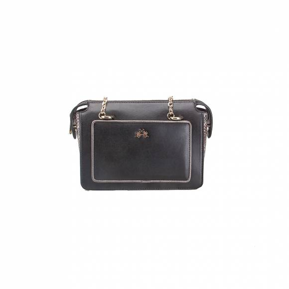 LA MARTINA SHOULDER BAG LA PORTENA 41W058 K0001 09999 BLACK