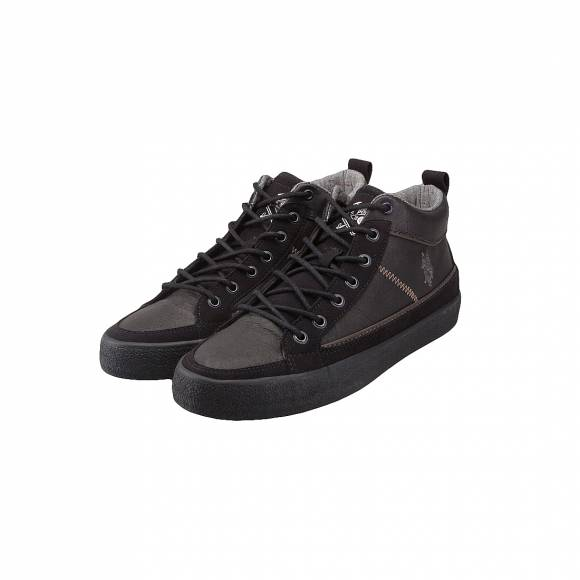 US POLO ASSN SYLVESTER BLACK SUEDE LEATHER