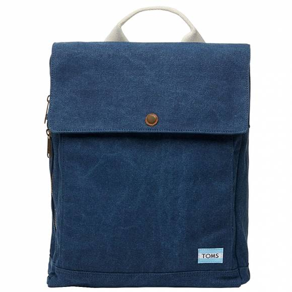 TOMS 10010062 NAVY CANVAS BACKPACK