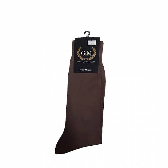 G & M SOCKS 411 LT BROWN